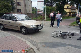 Wypadek na Al. Piłsudskiego, ranna rowerzystka.