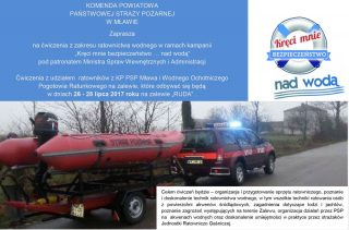 26-28 lipca. Ćwiczenia z zakresu ratownictwa wodnego nad zalewem Ruda