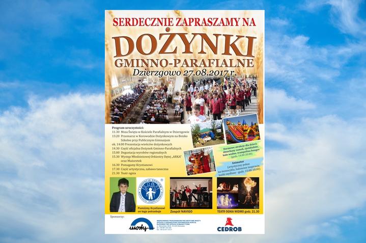 Gmina Dzierzgowo zaprasza na dożynki