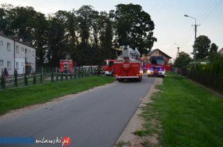 Pożar w budynku wielorodzinnym w Bogurzynie