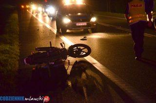 """Motocyklista i pieszy. Wypadek na """"siódemce"""""""