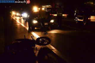 """Nietrzeźwy motorowerzysta przejechał na """"siódemce"""" nietrzeźwych pieszych"""