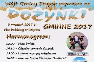3 września: Pierwsze Dożynki w Gminie Stupsk. Zapraszamy!