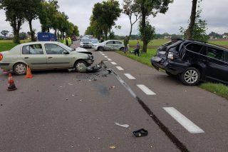 Zderzenie trzech aut pod Strzegowem