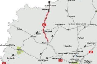 14 kilometrów S7 Napierki – Mława kosztować będzie prawie 300 mln zł. Przetarg rozstrzygnięty