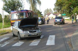 Wypadek w Radzanowie. Dwie osoby w szpitalu