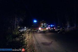 Opel corsa w rowie w lesie za Lipowcem