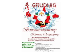 4 grudnia przyjdź na bożonarodzeniowy kiermasz charytatywny