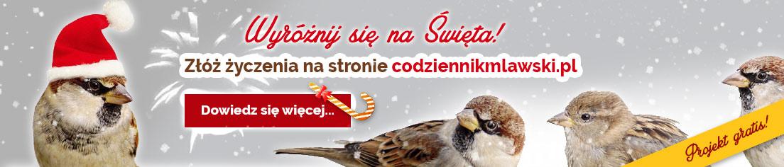 złóż życzenia na portalu codziennikmlawski.pl