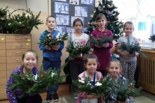 """""""Ozdoby bożonarodzeniowe"""" – warsztaty otwarte dla rodziców i uczniów w Grzebsku"""
