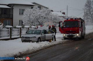 Pożar forda na Szreńskiej