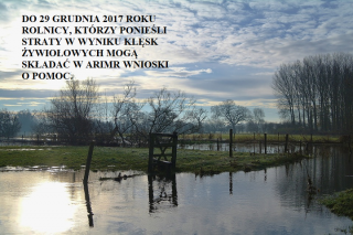 Nabór wniosków od rolników o odszkodowania z tytułu klęsk żywiołowych tylko  29 grudnia