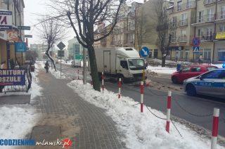 Potrącenie rowerzysty na ulicy Warszawskiej