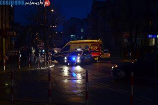 Potrącenie pieszego na ulicy Warszawskiej