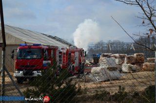 Pożar hali w Wieczfni Kościelnej