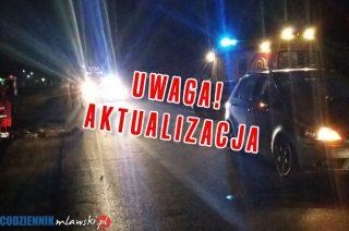 """AKTUALIZACJA: Śmiertelny wypadek na """"siódemce"""" koło Wiśniewa. Policjanci ustalili tożsamość zmarłego"""