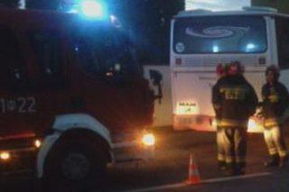 Pożar autobusu na krajowej 7-ce