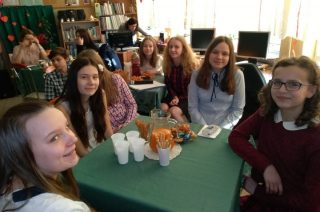 Literackie Walentynki w bibliotece Szkoły Podstawowej nr 7 w Mławie