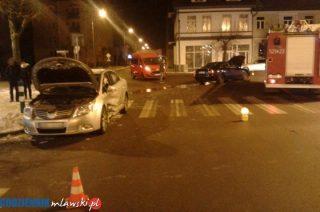 Nocny karambol w centrum Mławy