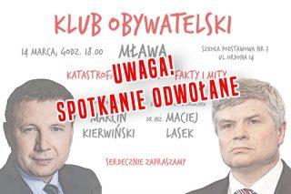 """""""Katastrofa smoleńska – fakty i mity"""" – spotkanie odwołane."""