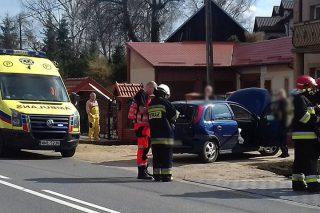 Zderzenie trzech aut w Mławce