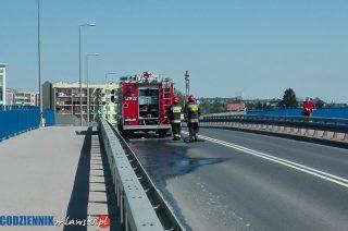 Strażacy sprzątali po budowlańcach na Sienkiewicza i Gdyńskiej