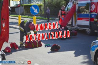 AKTUALIZACJA: Wypadek na ulicy Kopernika. Skuterem uderzył w BMW