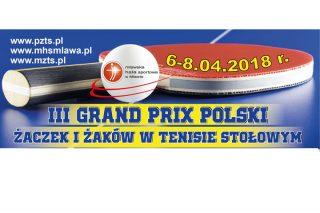 III Grand Prix Polski Żaków w tenisie stołowym