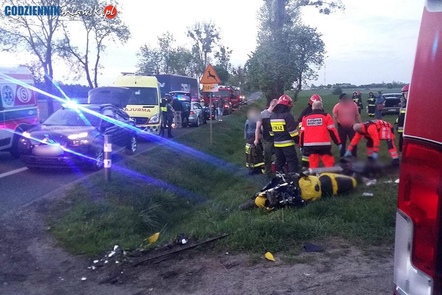 Śmiertelny wypadek na DK nr 7 w okolicy Żurominka. Nie żyje motocyklista. Żurominek śmiertelny wypadek