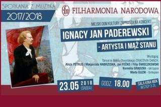 """Zaproszenie na koncert """"Ignacy Paderewski – artysta i mąż stanu"""""""