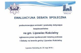 Zaproszenie na Debatę ewaluacyjną w Lipowcu Kościelnym