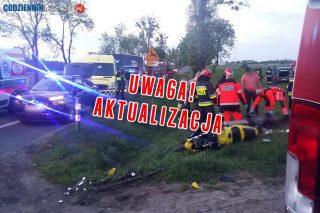 AKTUALIZACJA: Śmiertelny wypadek na DK nr 7 w okolicy Żurominka. Nie żyje motocyklista.