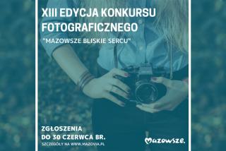 """""""Mazowsze – a czas płynie."""" Konkurs dla pasjonatów fotografii"""