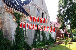 AKTUALIZACJA: Spłonął budynek starej plebanii przy kościele parafii św. Wojciecha w Działdowie. W pobliżu pożaru policja zatrzymała mężczyznę z nożem.