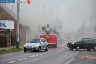 Trzy osoby poparzone w pożarze na ulicy Padlewskiego