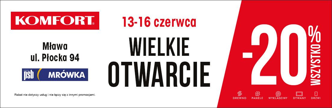 Komfort Mława Wielkie otwarcie Komfortu w Mławie podłogi Komfort Mława ul. Płocka 94 Komfort oferta i promocje