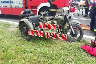 AKTUALIZACJA: Mława. Zderzenie samochodu osobowego z motocyklem