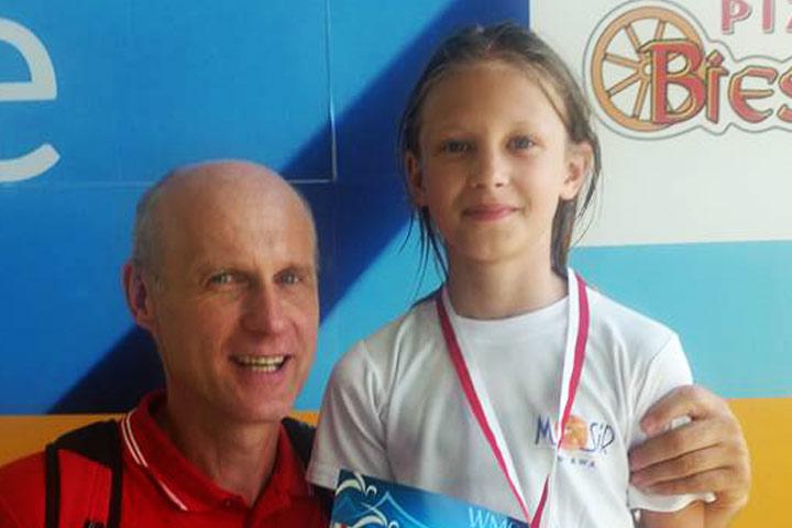 Amelia Butryn ze srebrnym medalem