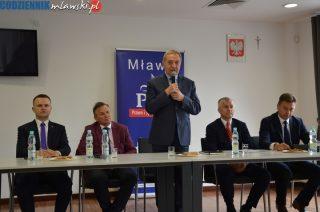 Minister środowiska Henryk Kowalczyk oko w oko z problemami powiatu mławskiego