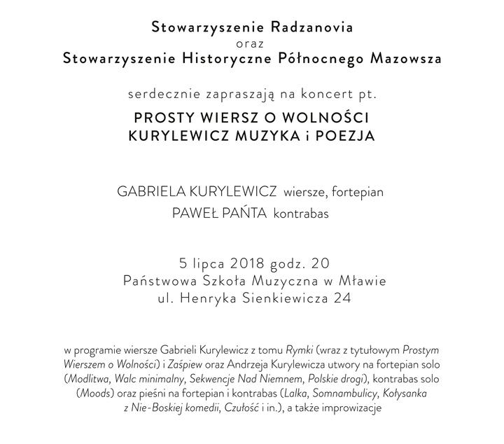 Kurylewicz Muzyka I Poezja Wyjątkowy Koncert Codziennik