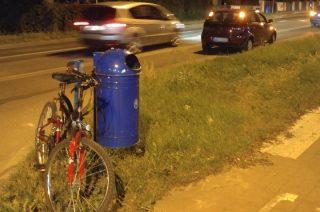 Potrącenie rowerzysty koło ronda Jana Pawła II