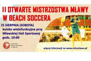 II Otwarte Mistrzostwa Mławy w Beach Soccera