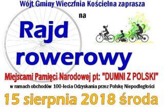 """Rajd rowerowy """"Dumni z Polski"""""""