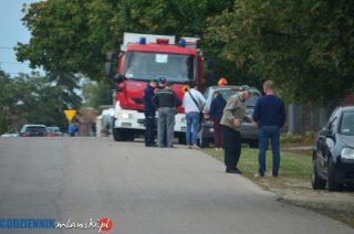 Pożar samochodu w Starych Kosinach