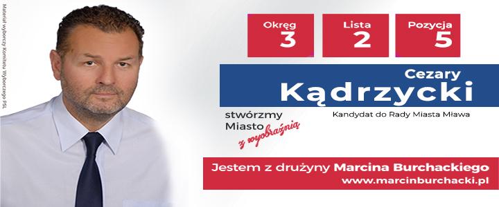 Cezary Kądrzycki kandydat do Rady Miasta Mława