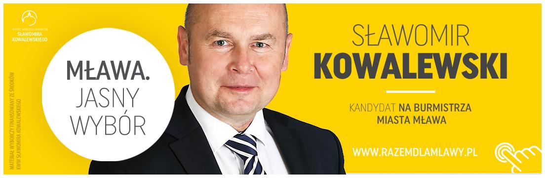 Sławomir Kowalewski kandydat na burmistrza Mława 2018 samorządowcy Mława powiat mławski