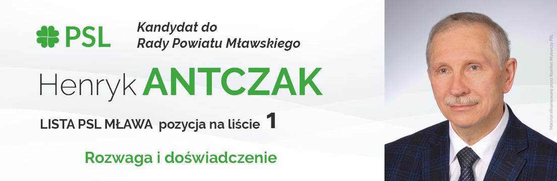 Henryk Antczak kandydat do Rady Powiatu Mławskiego wybory samorządowe 2018