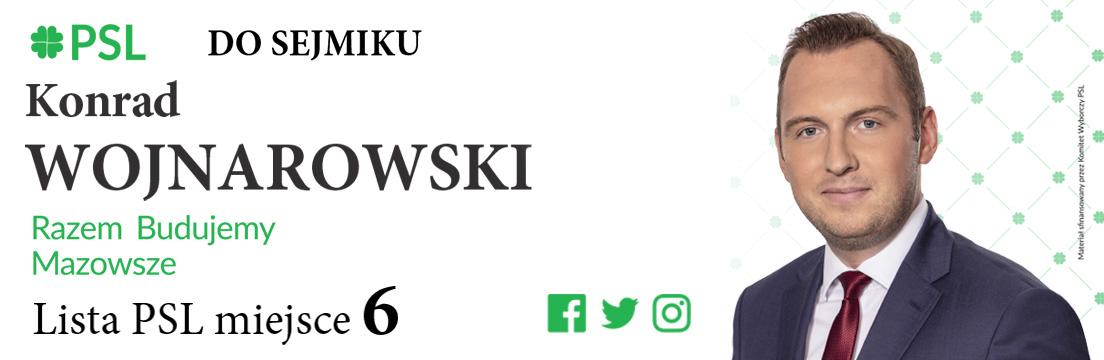 Konrad Wojnarowski kandydat do sejmiku PSL Mława 2018 samorządowcy Mława powiat mławski
