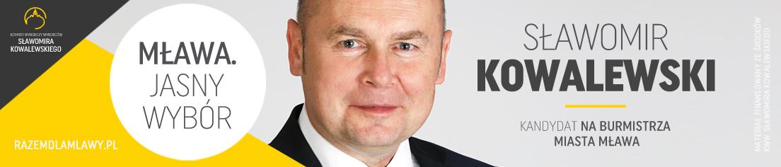 Sławomir Kowalewki kandydat na burmistrza Mława 2018 samorządowcy Mława powiat mławski