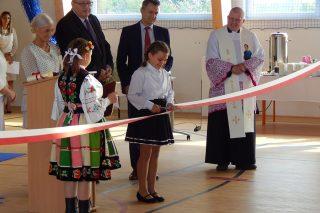 Uroczyste otwarcie sali gimnastycznej w Zawadach